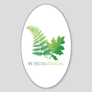Be [Eco]Logical - Leaves Oval Sticker